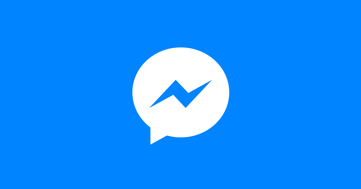 Facebook Messenger logo on blue