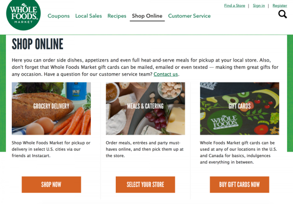Build a Facebook Messenger Bot with ManyChat: Whole Foods shop online options