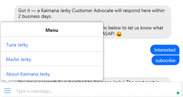 5 of the Best Facebook Chatbots to Play With - Kaimana Jerky