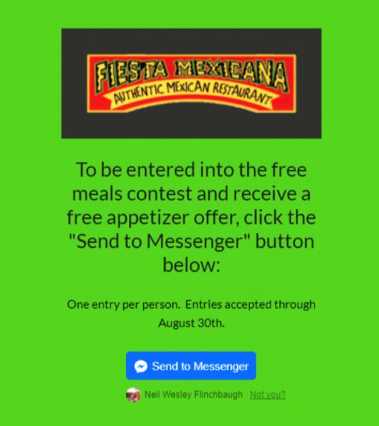 Messenger Marketing Restaurant Case Study