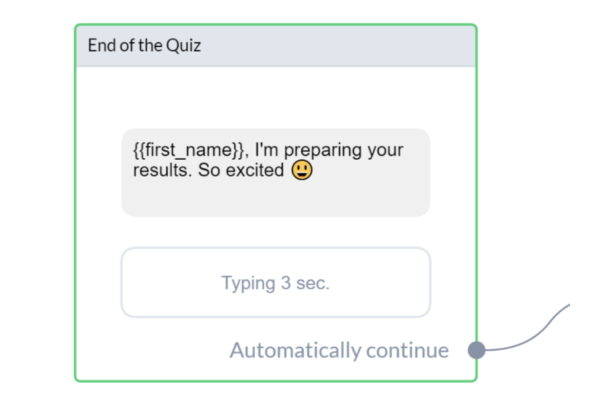 Create Your First Chatbot Quiz | End of the quiz