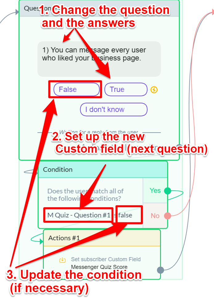 Create Your First Chatbot Quiz | Custom field example