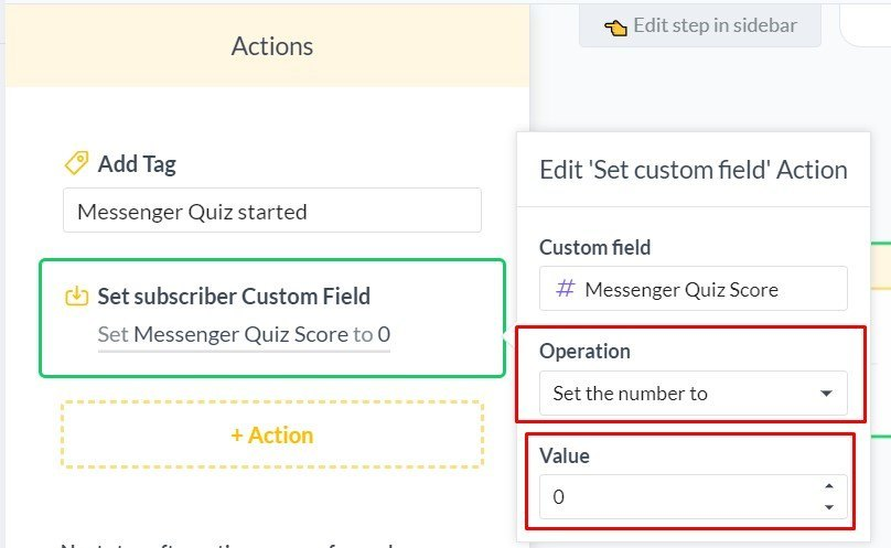 Create Your First Chatbot Quiz | Actions