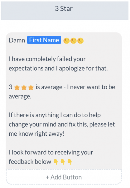 generate customer reviews   manychat bot builder review example