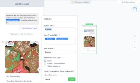 Messenger Payments in ManyChat Feature Dynamic Pricing