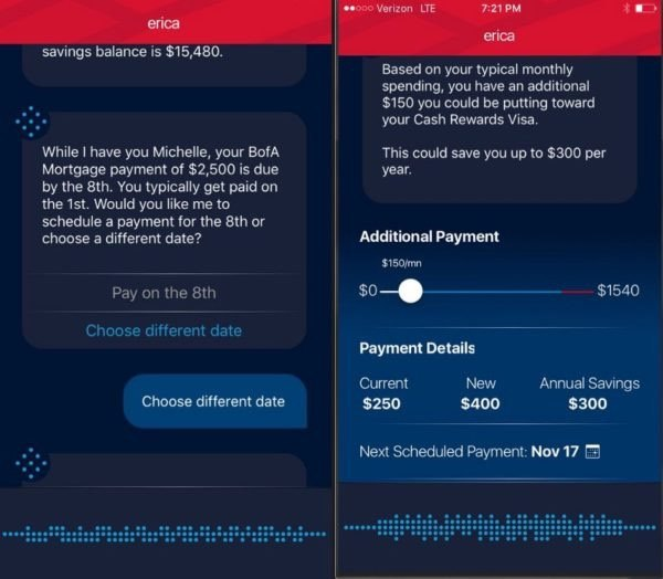 Bank of America Chatbot Example