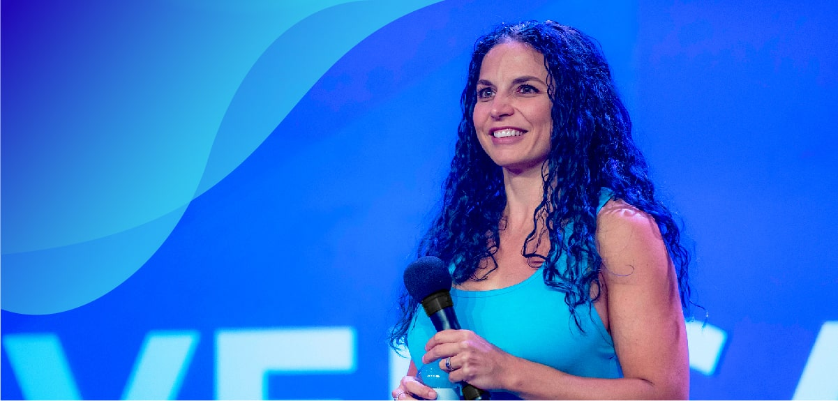 Image of Orca Marketology Founder and CEO Mackensie Liberman Speaking at Conversation 2019