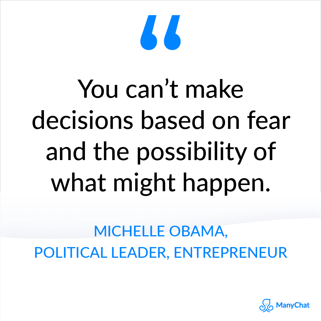 Entrepreneur quotes - Michelle Obama