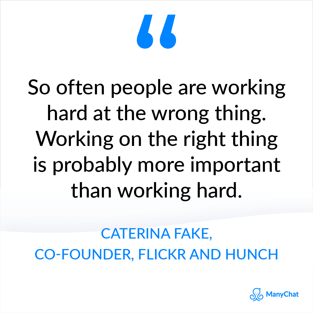 Entrepreneur quotes - Caterina Fake