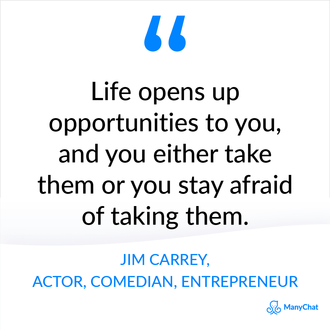 Entrepreneur quotes - Jim Carrey