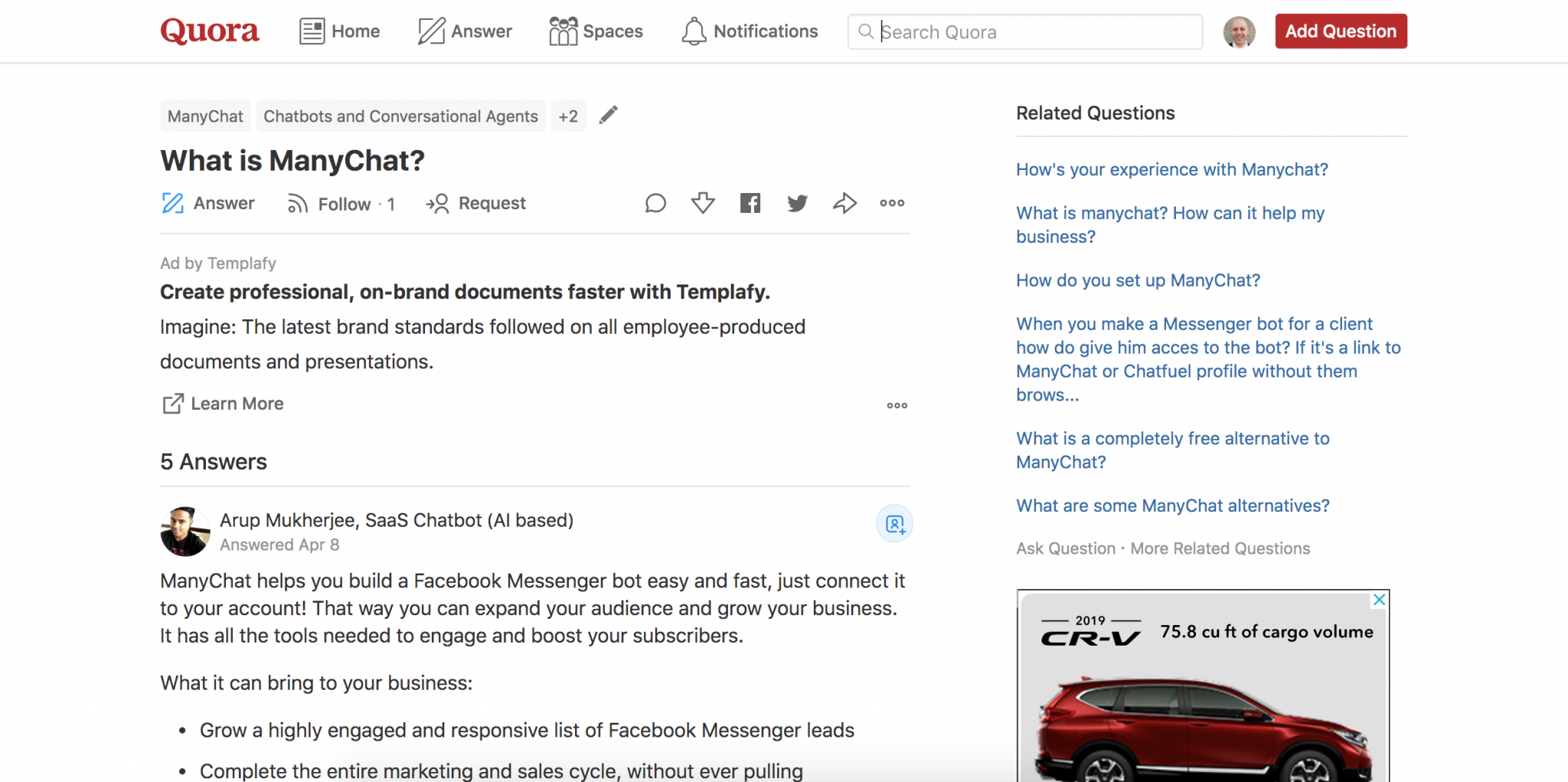 Example of Quora as a Type of Social Media