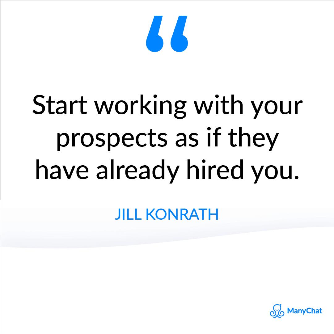 Motivational Sales Quote by Jill Konrath