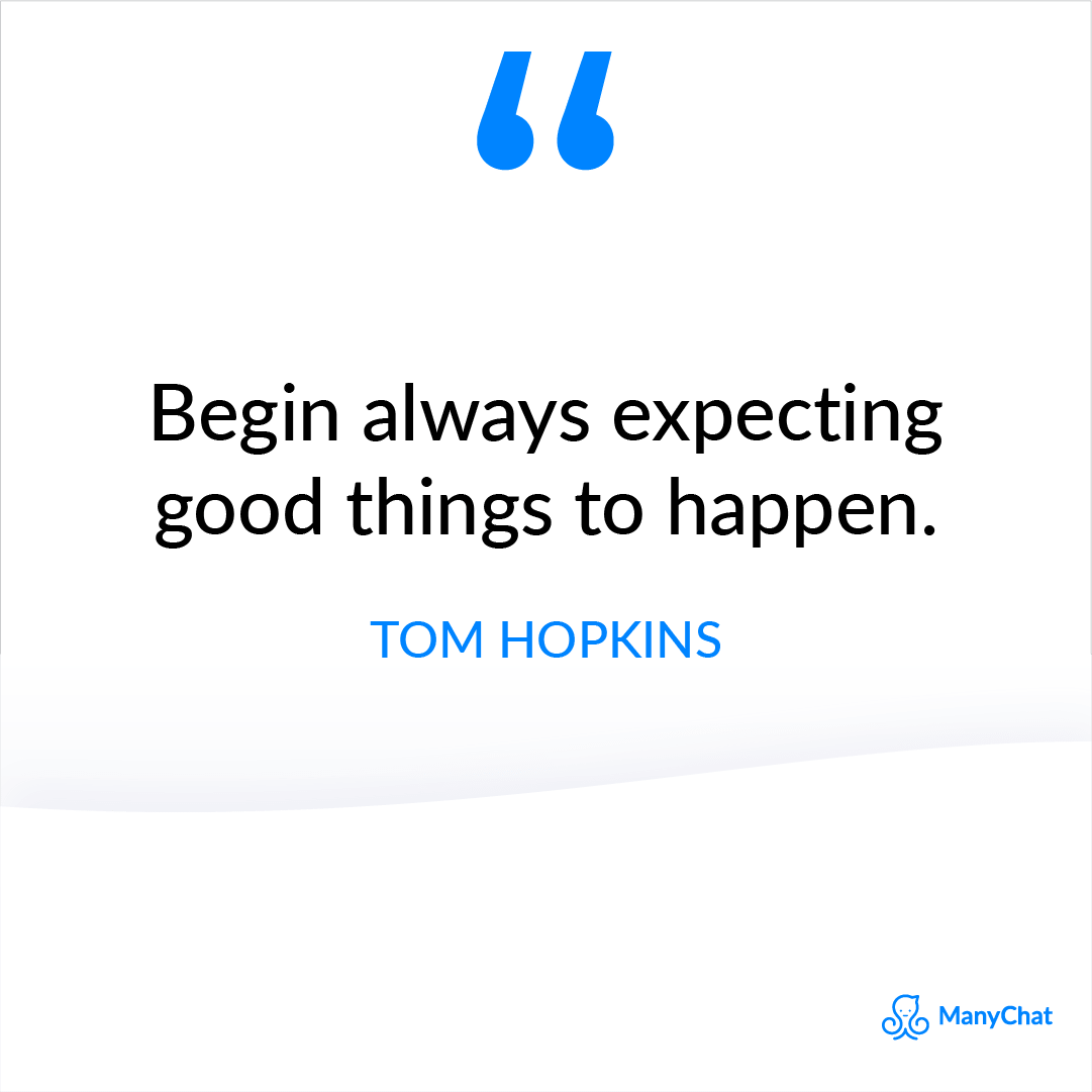 Inspirational Quote from Tom Hopkins