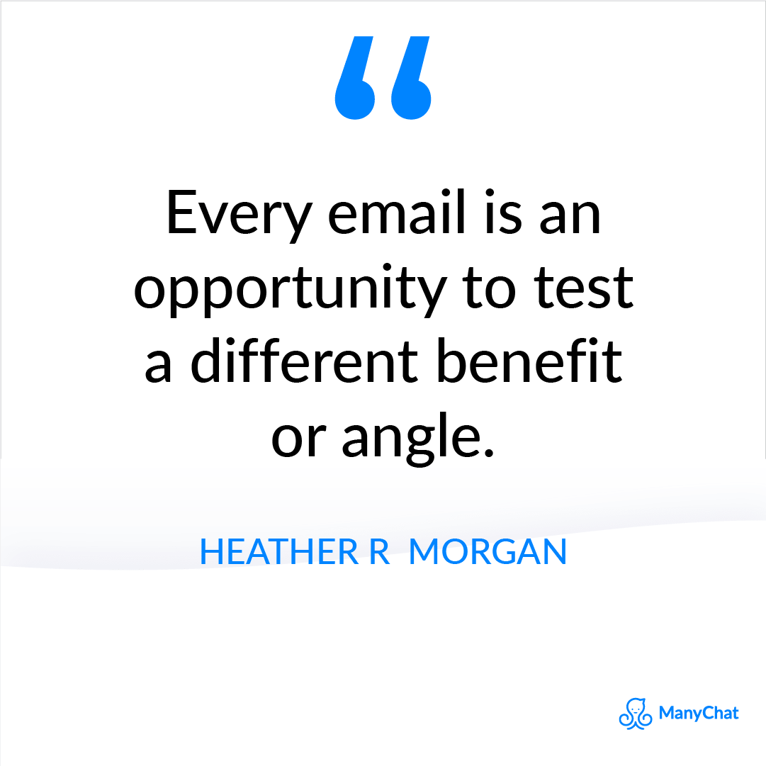 Email Marketing Quote by Heather R. Morgan