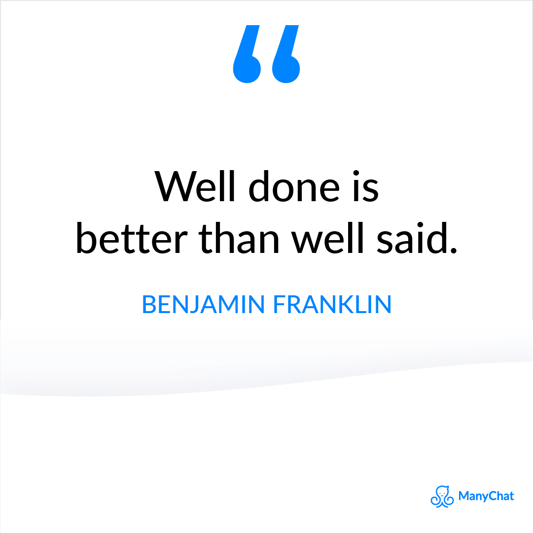 Inspirational Quote from Benjamin Franklin