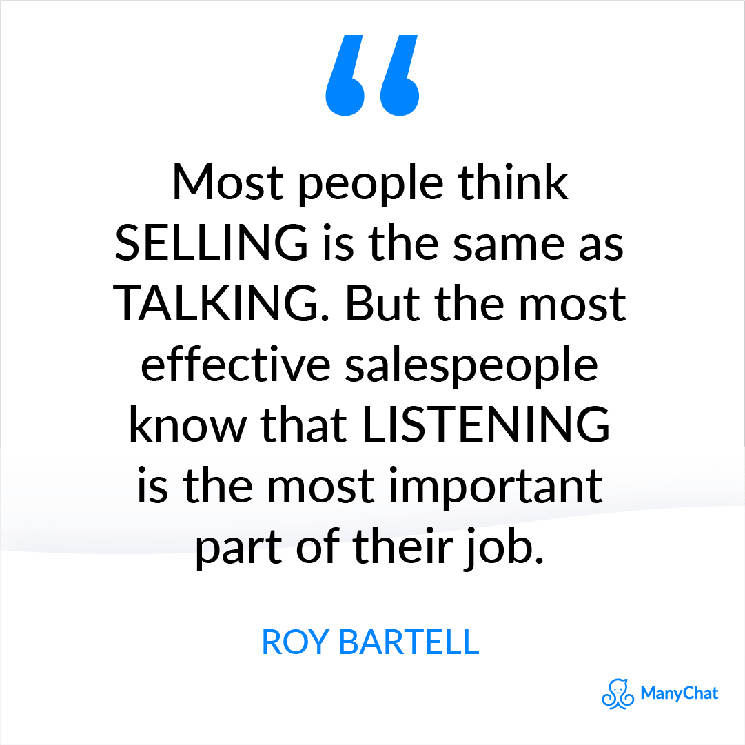 Sales Quote from Roy Bartell