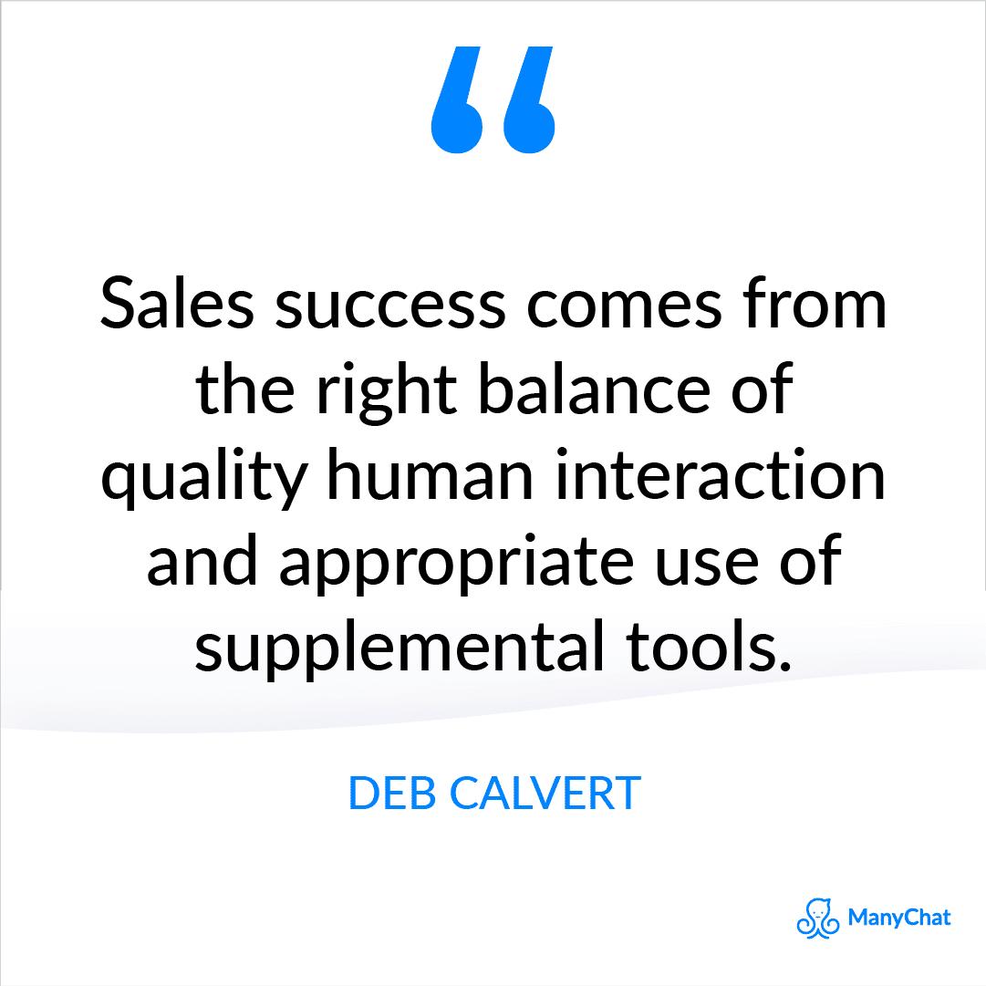 Sales Quote from Deb Calvert