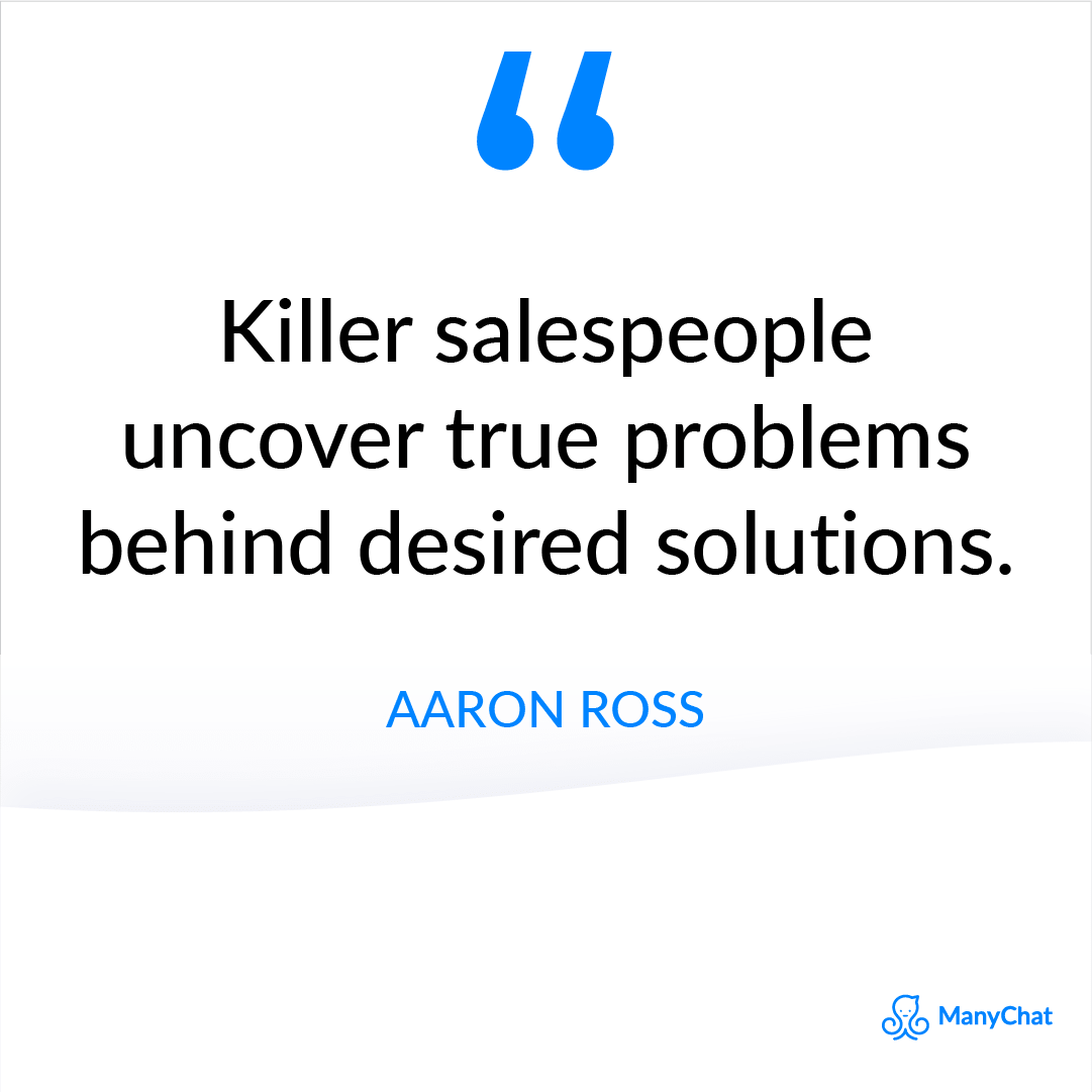 Best Motivational Sales Quote from Aaron Ross