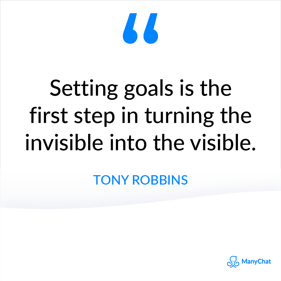 Tony Robbins Quote about Goal Setting