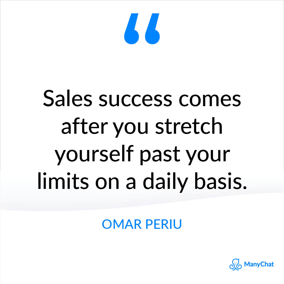 Sales Success Quote by Omar Periu
