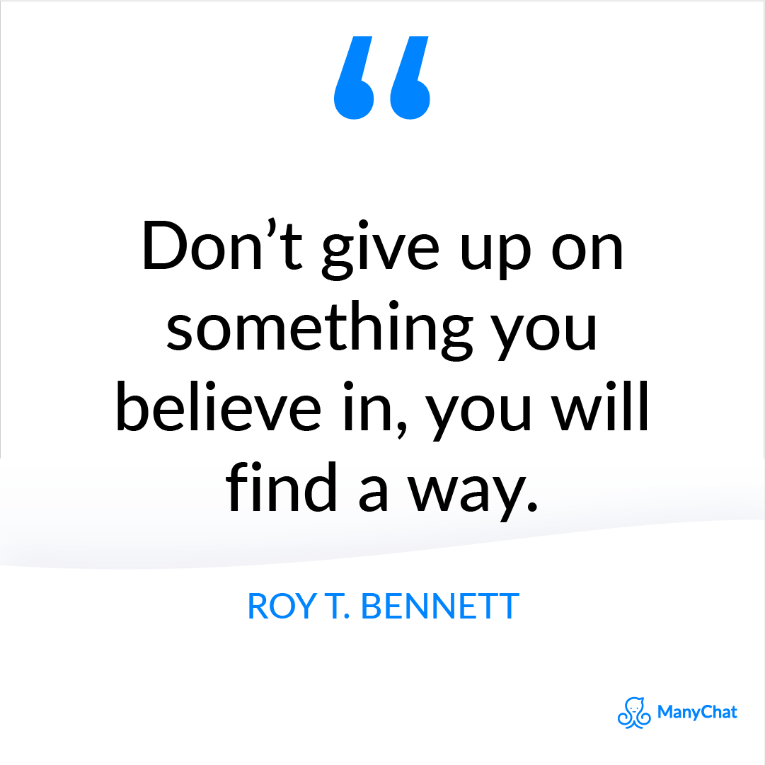 Inspirational Quote from Roy T. Bennett