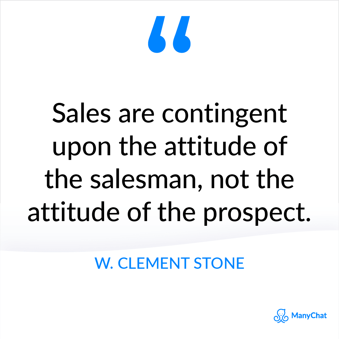 Motivational Sales Quote from W. Clement Stone