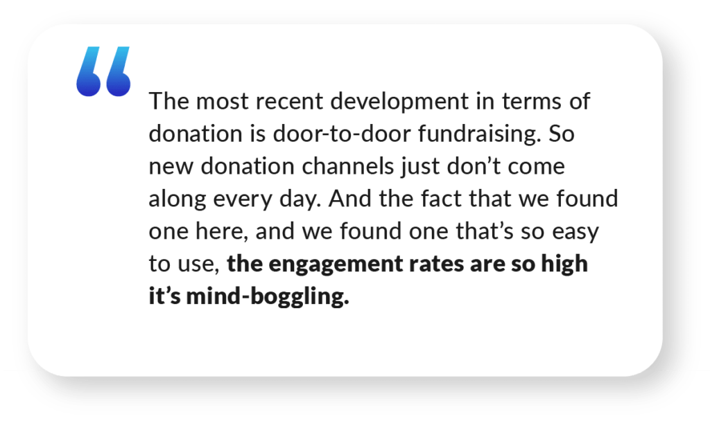 Quote about high engagement rates