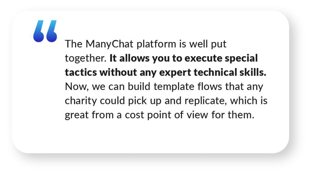 Quote about ManyChat