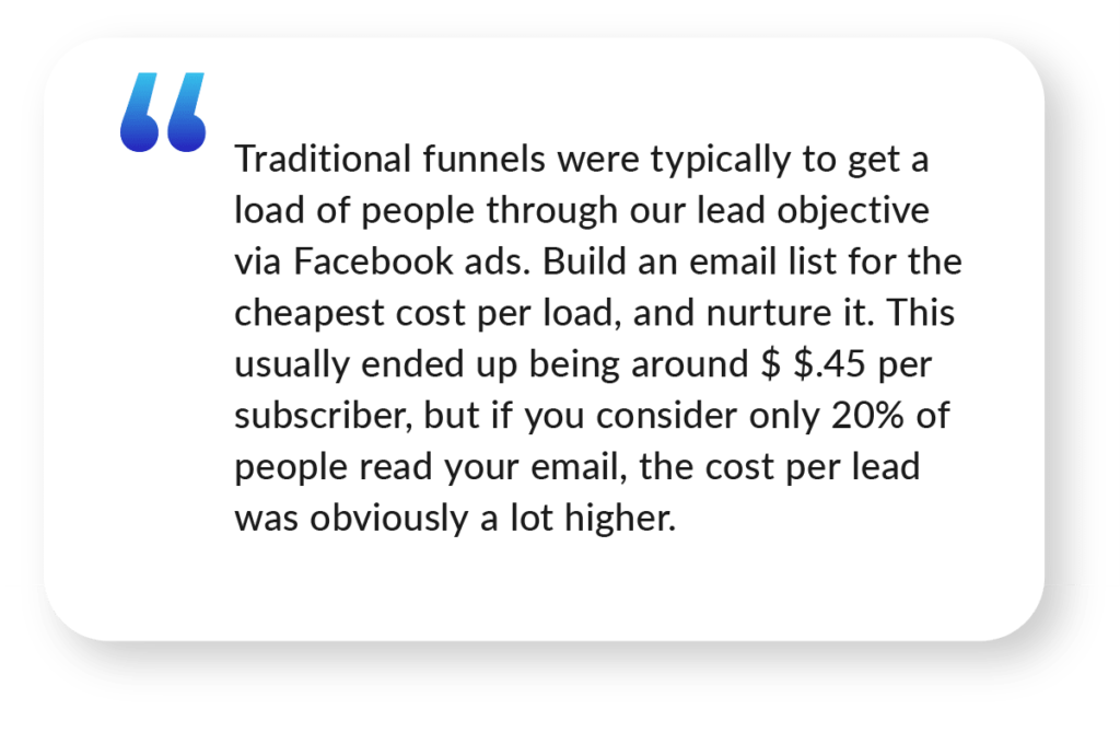 Jack Consalvi Quote about Marketing Funnels