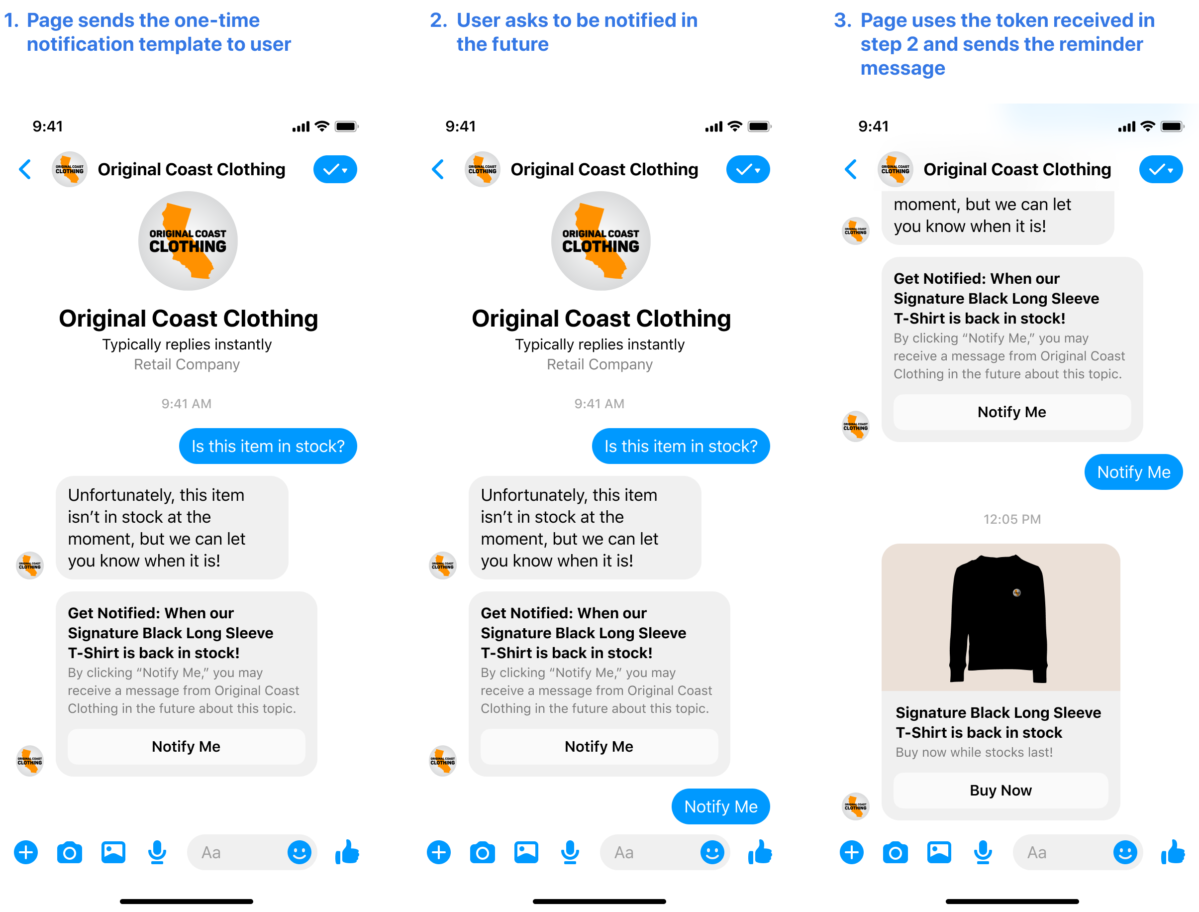 Facebook's Example of the one-time use feature