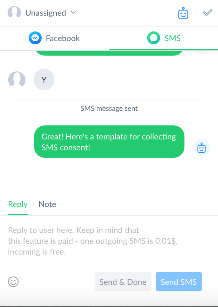 SMS Live Chat