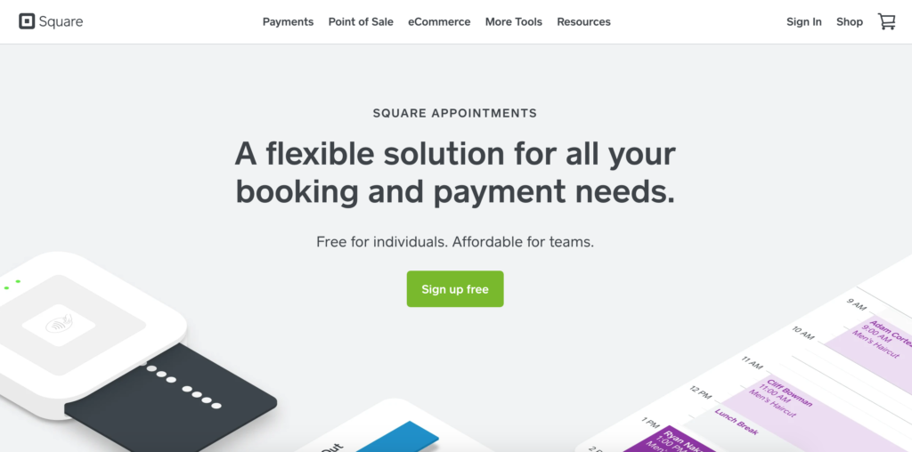 Square Appointments Scheduling App