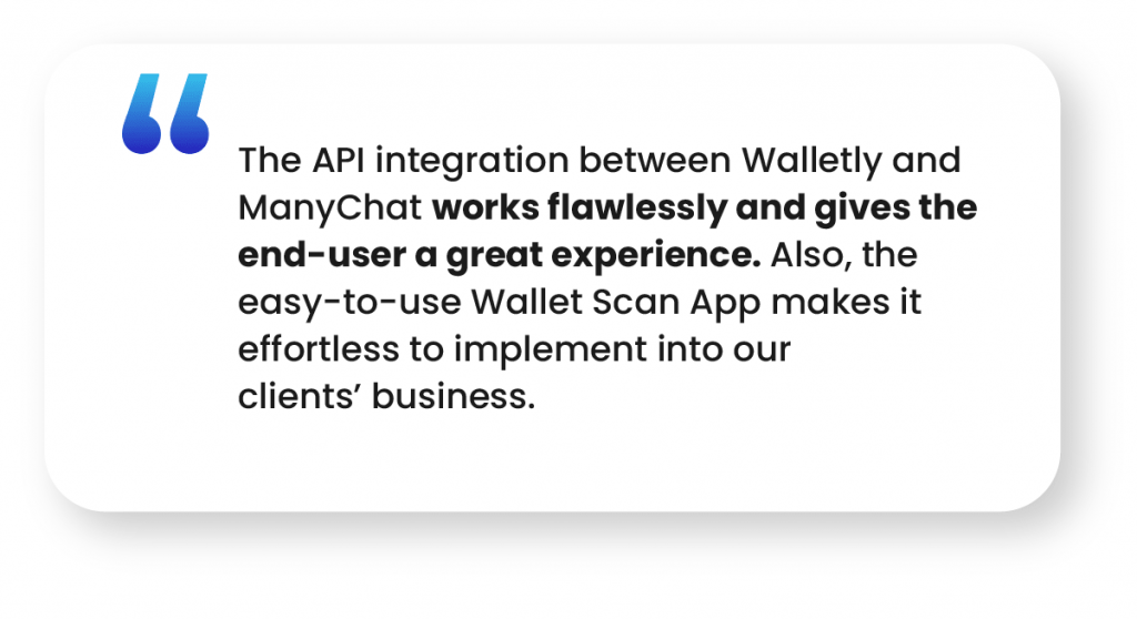 ManyChat and Walletly Case Study #2