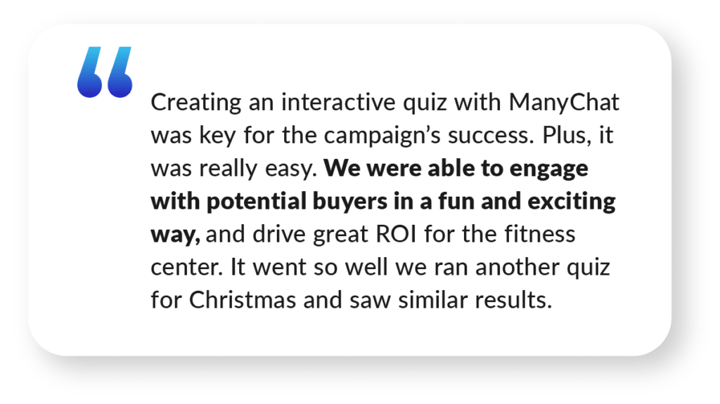 ManyChat Case Study Quote