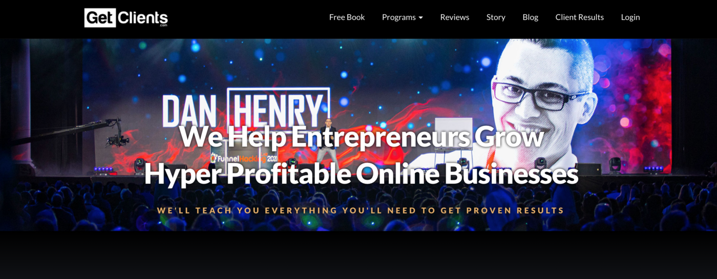 Get Clients Homepage