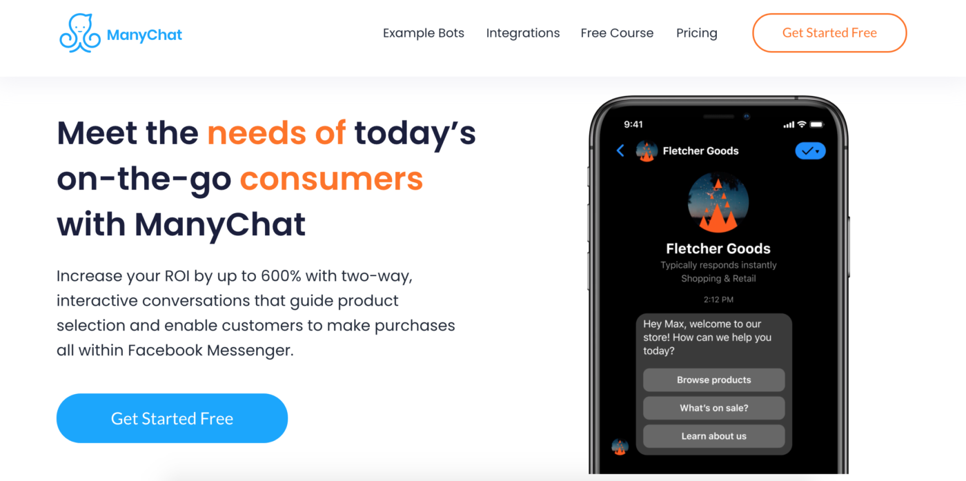 ManyChat Landing Page