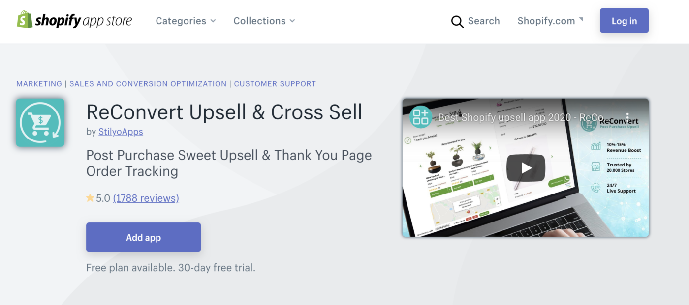 Recovery Upsell and Cross Sell Shopify App
