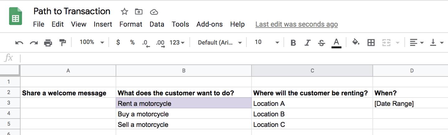 Create a Customer Service Bot