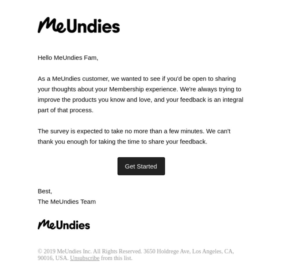 Ecommerce Email Marketing - MeUndies