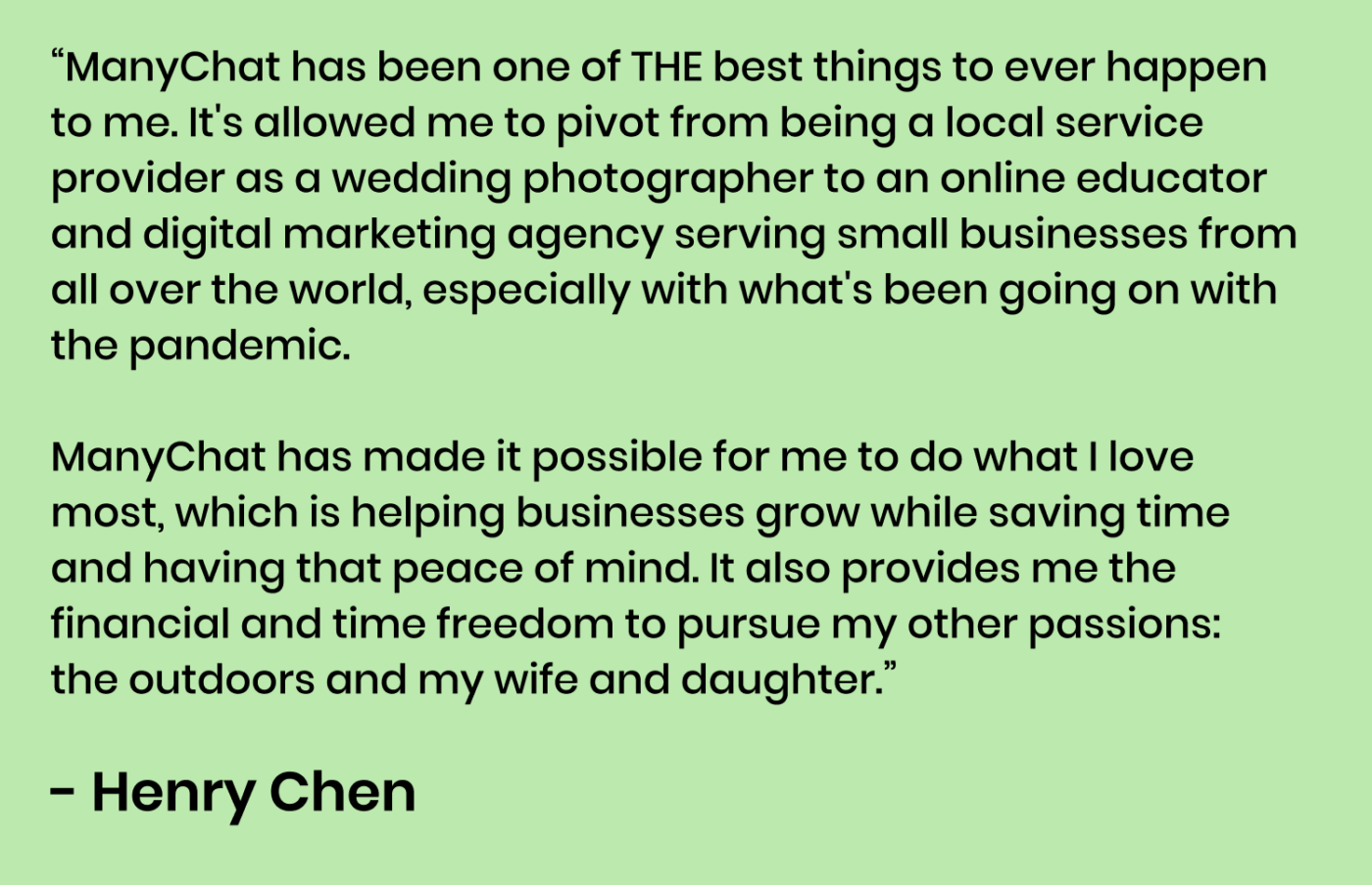 Henry Chen Quote