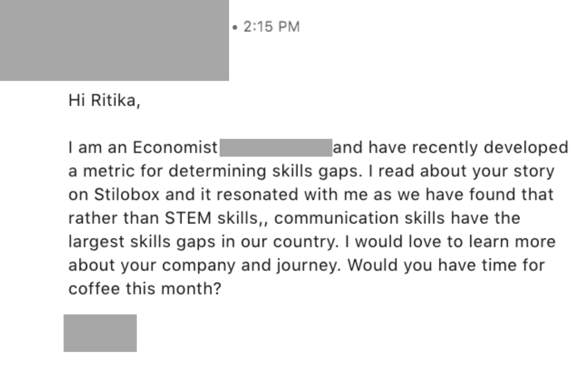 Networking Email - Example 1