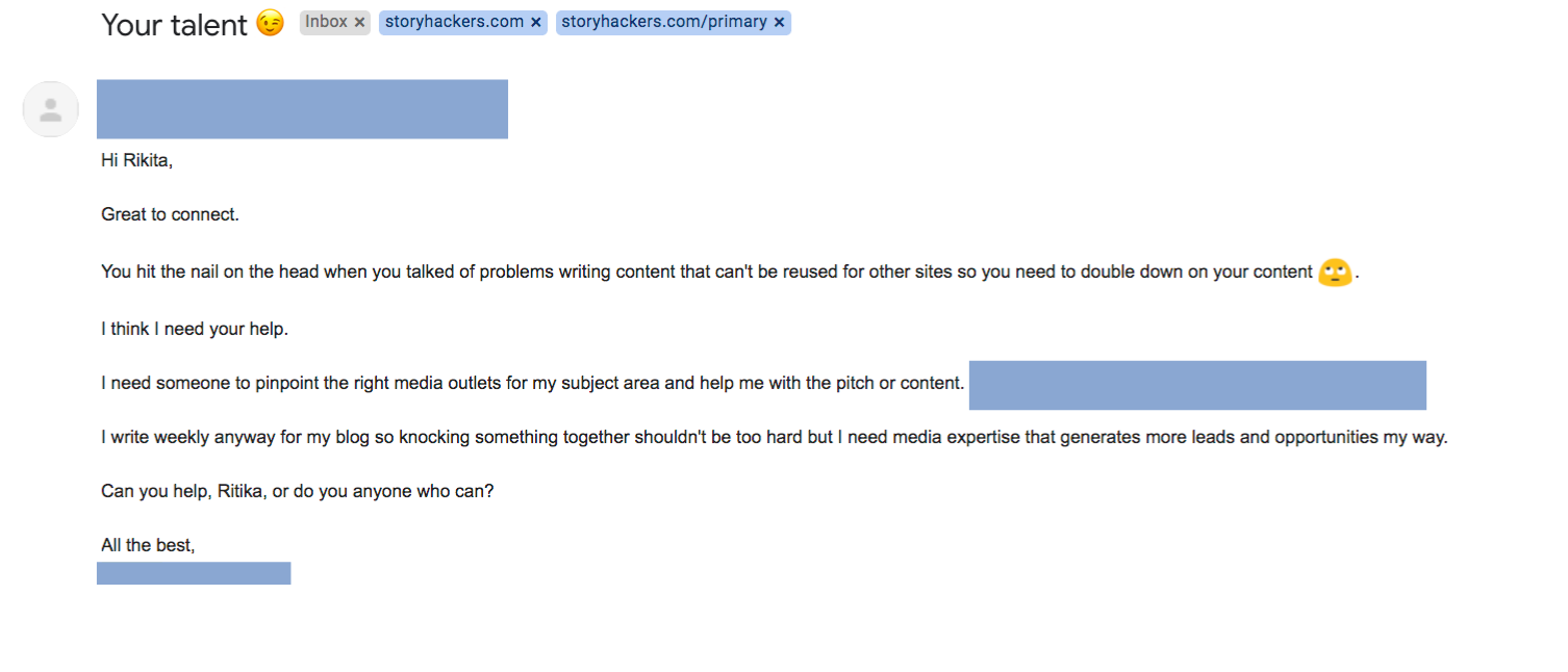 Networking Email - Example 2