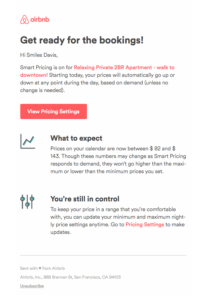 Transactional Email - Airbnb