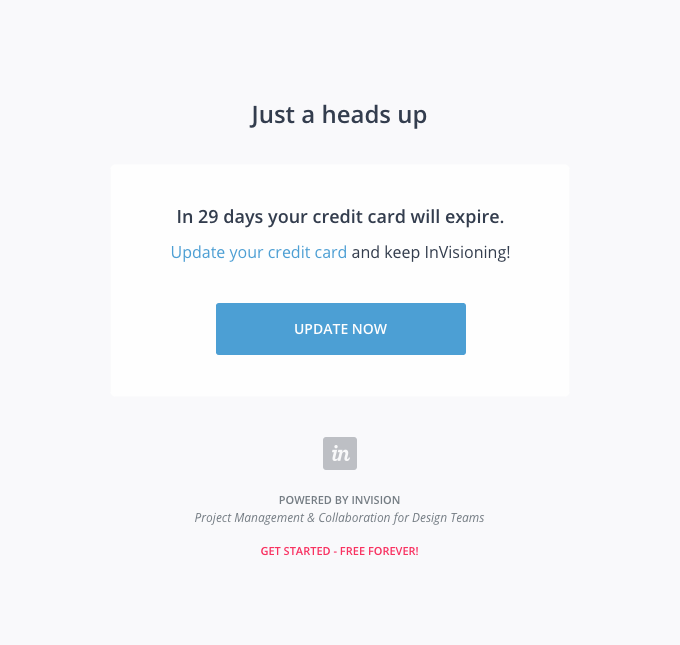 Transactional Email - InVision