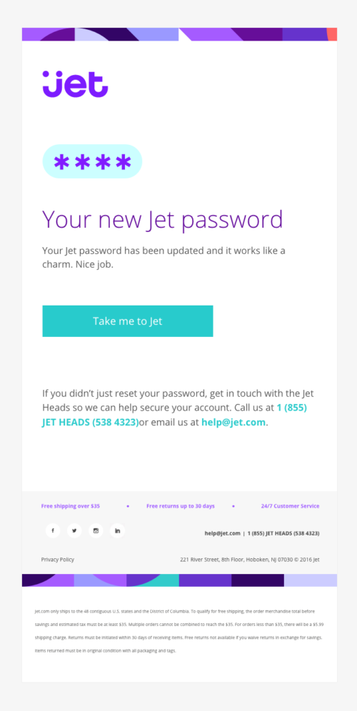 Transactional Email - Jet