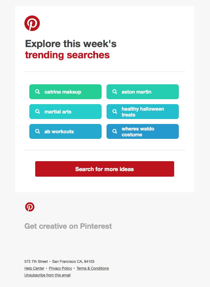 Transactional Email - Pinterest