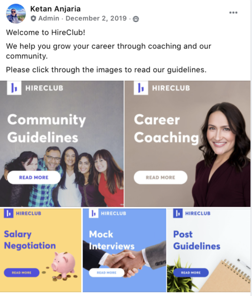 HireClub - Screenshot