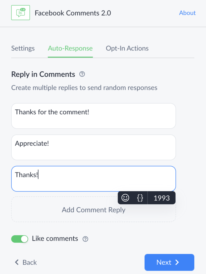 Adding multiple comments