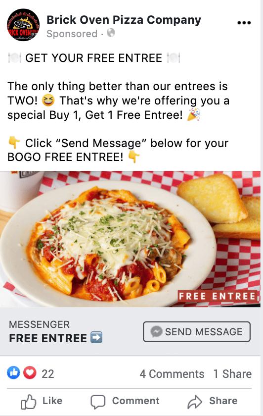 Facebook Messenger ad JSON