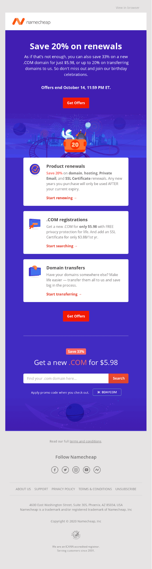 How to Increase Email CTR - Namecheap
